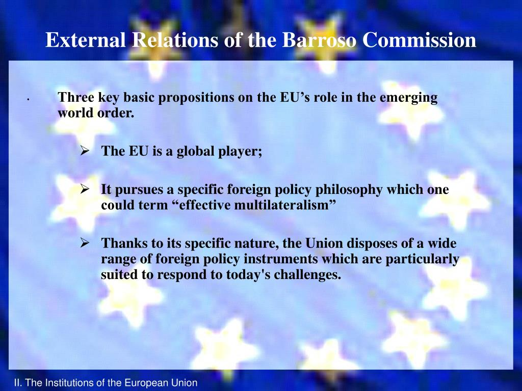 External Relations of the Barroso Commission