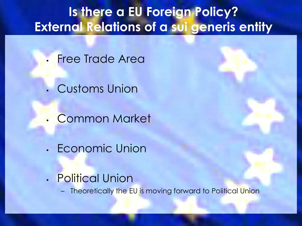 Is there a EU Foreign Policy?