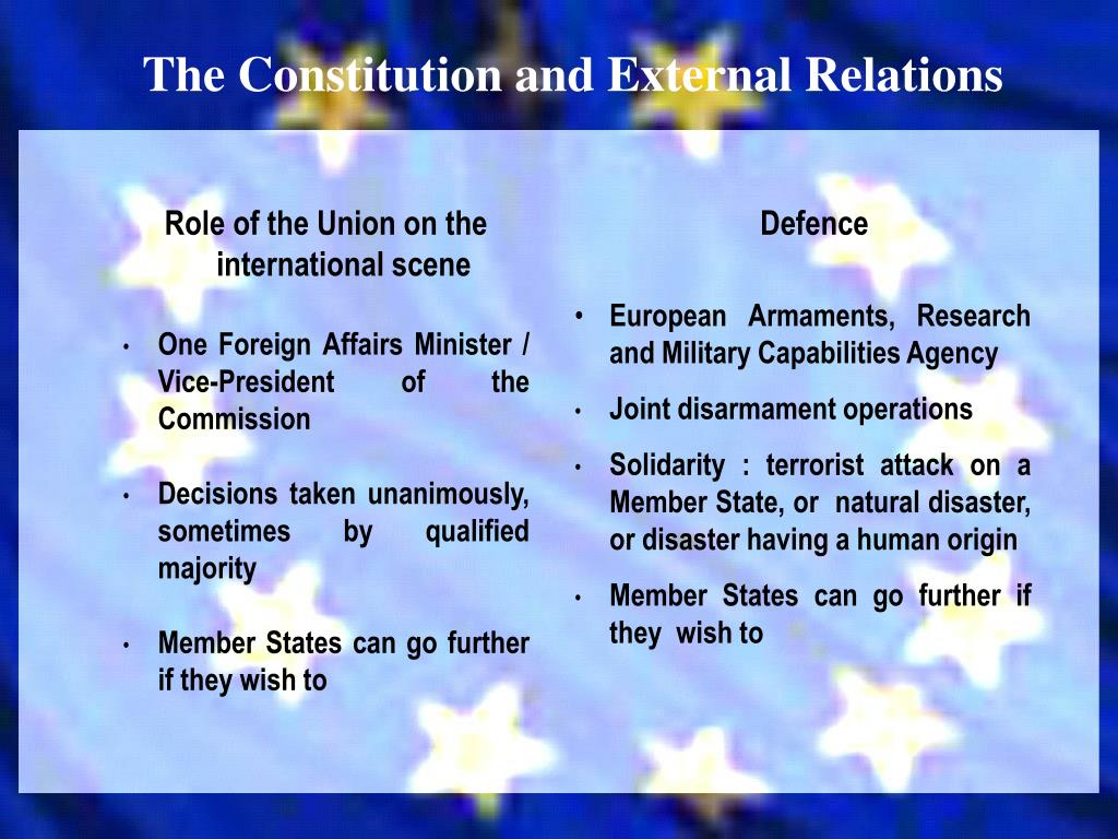 The Constitution and External Relations