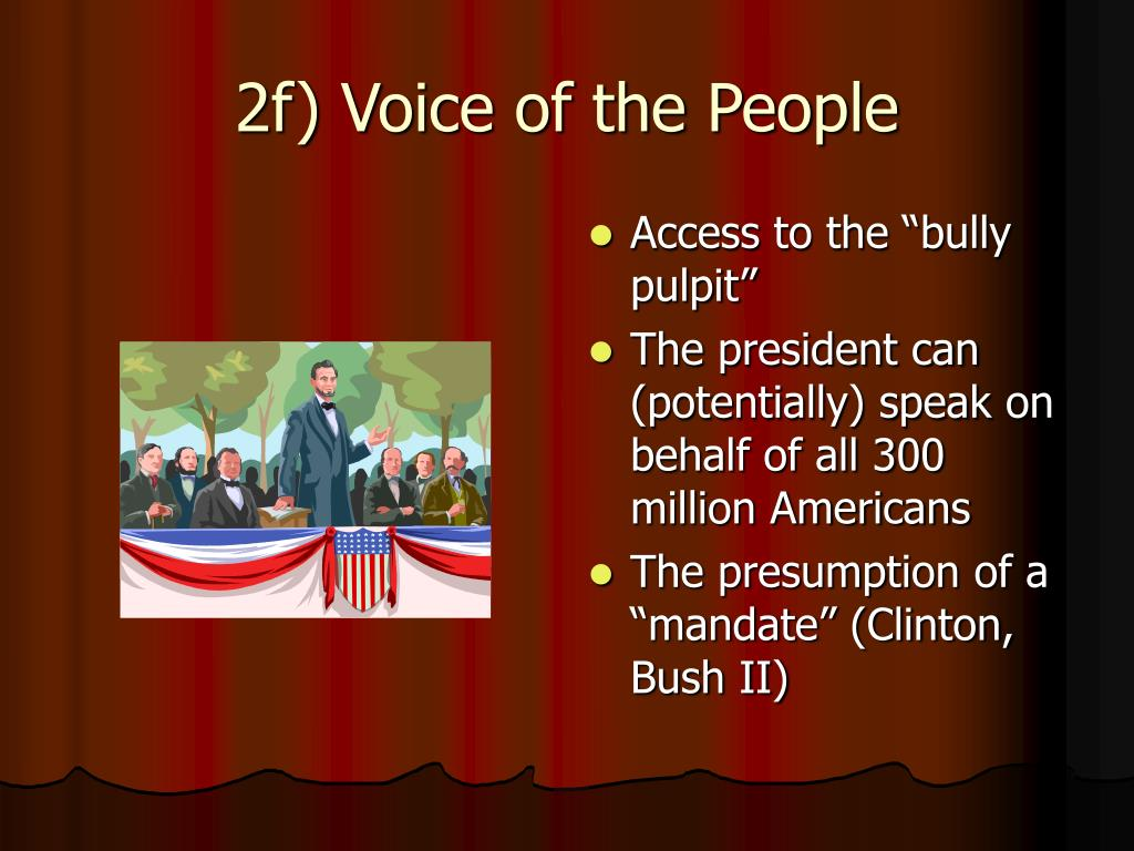 2f) Voice of the People