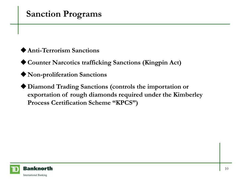 Sanction Programs
