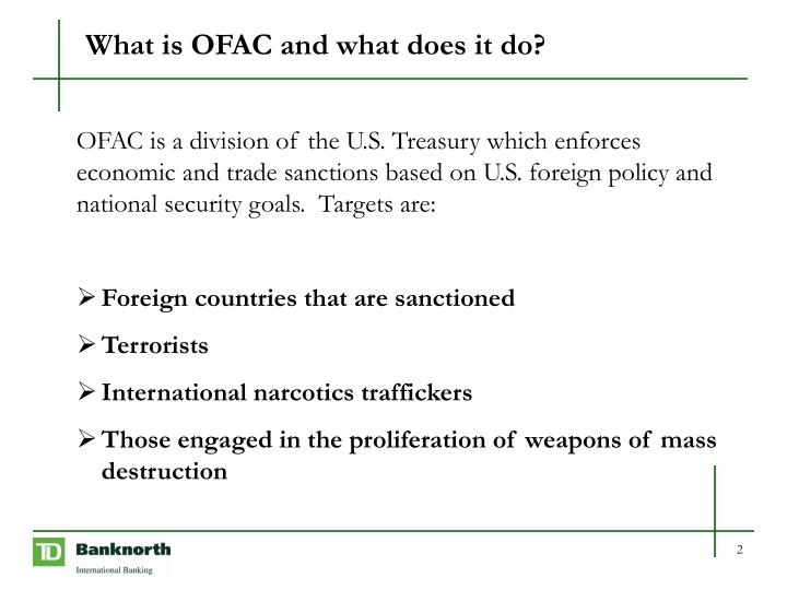 What is ofac and what does it do