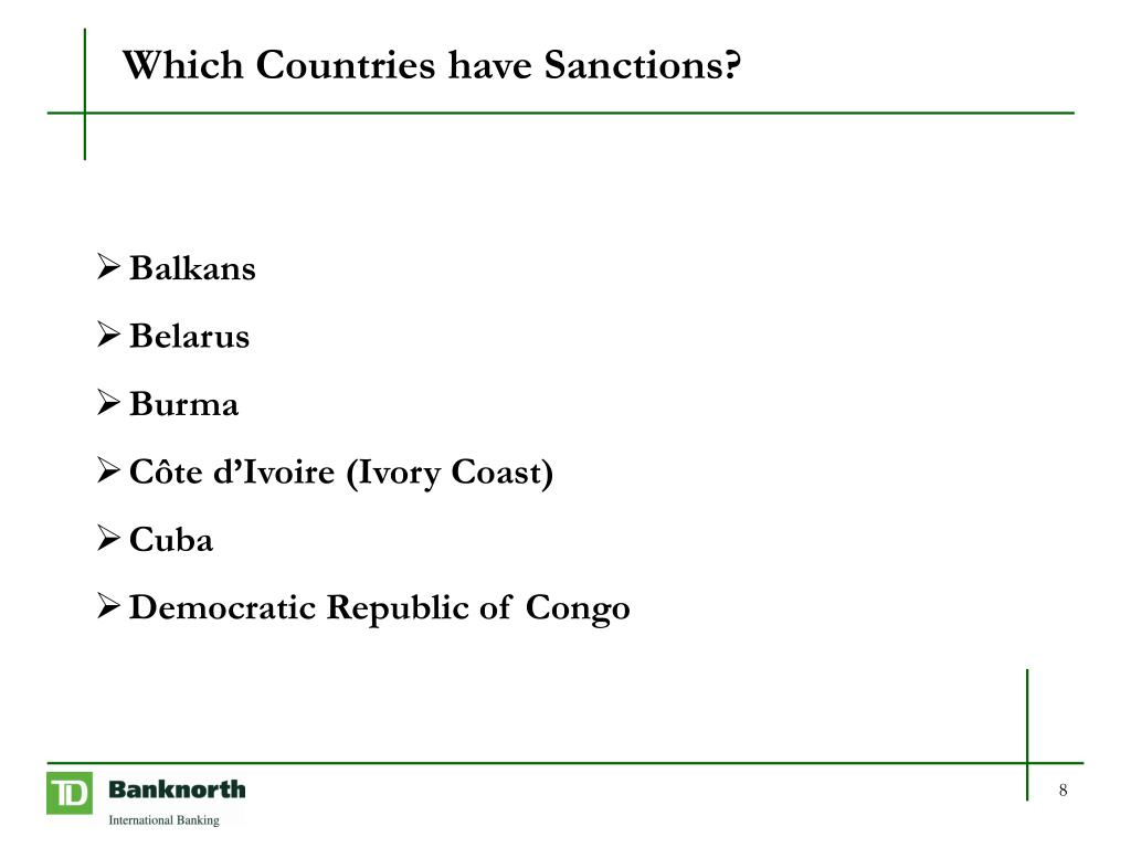 Which Countries have Sanctions?