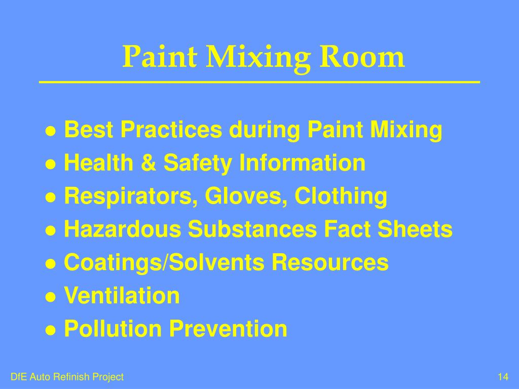 Paint Mixing Room