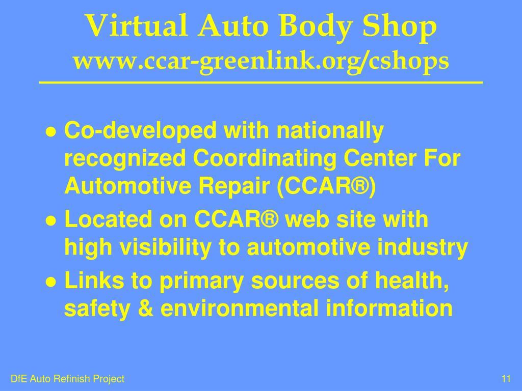Virtual Auto Body Shop