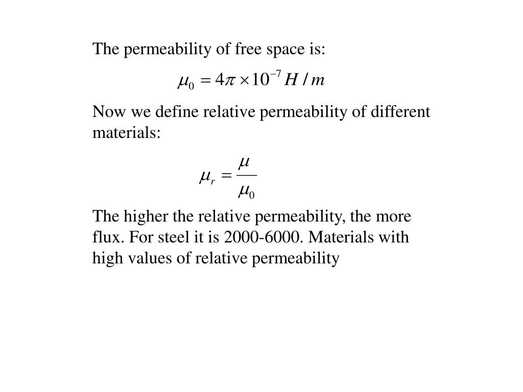 The permeability of free space is: