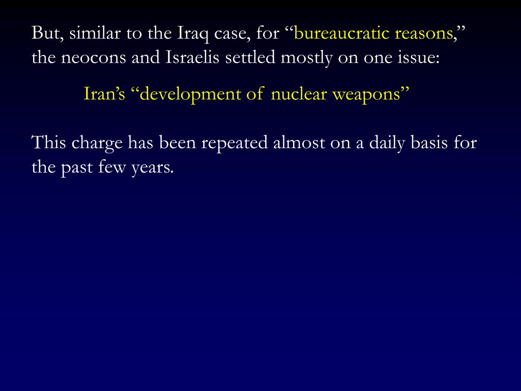 """But, similar to the Iraq case, for """""""