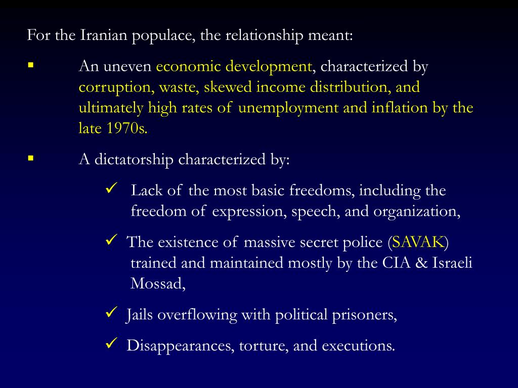 For the Iranian populace, the relationship meant: