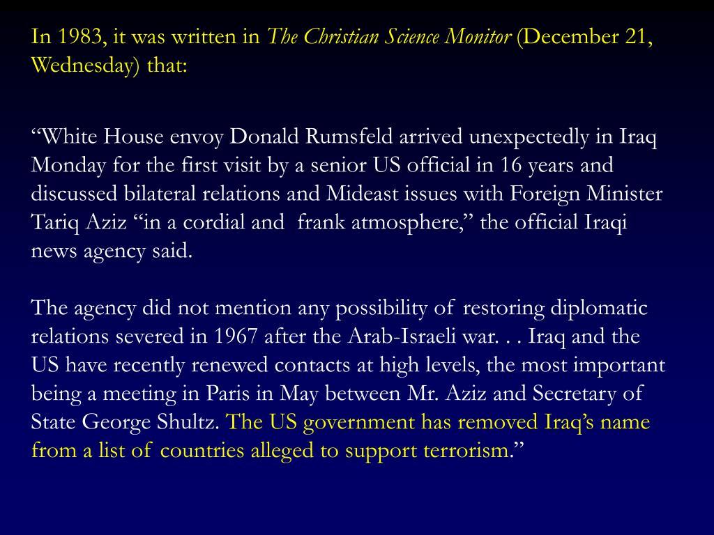 In 1983, it was written in