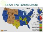 1872 the parties divide