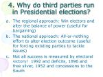 4 why do third parties run in presidential elections