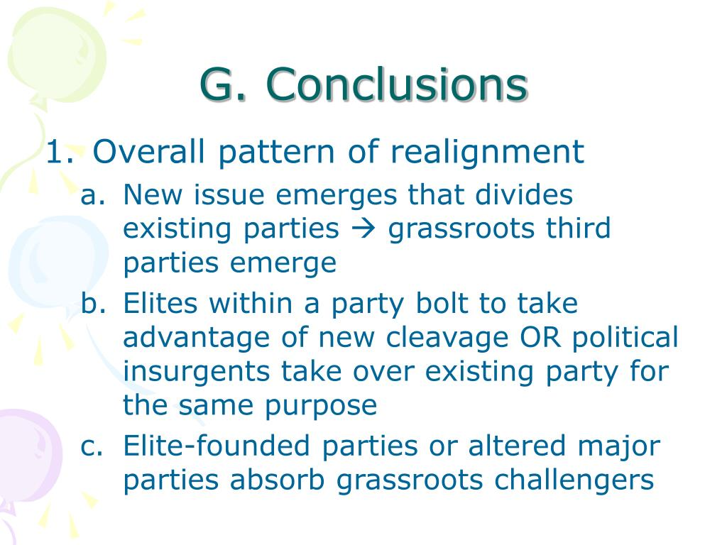 G. Conclusions
