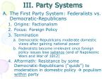 iii party systems