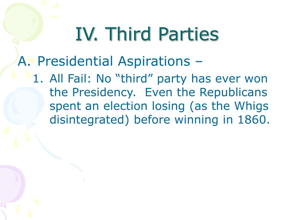 IV. Third Parties