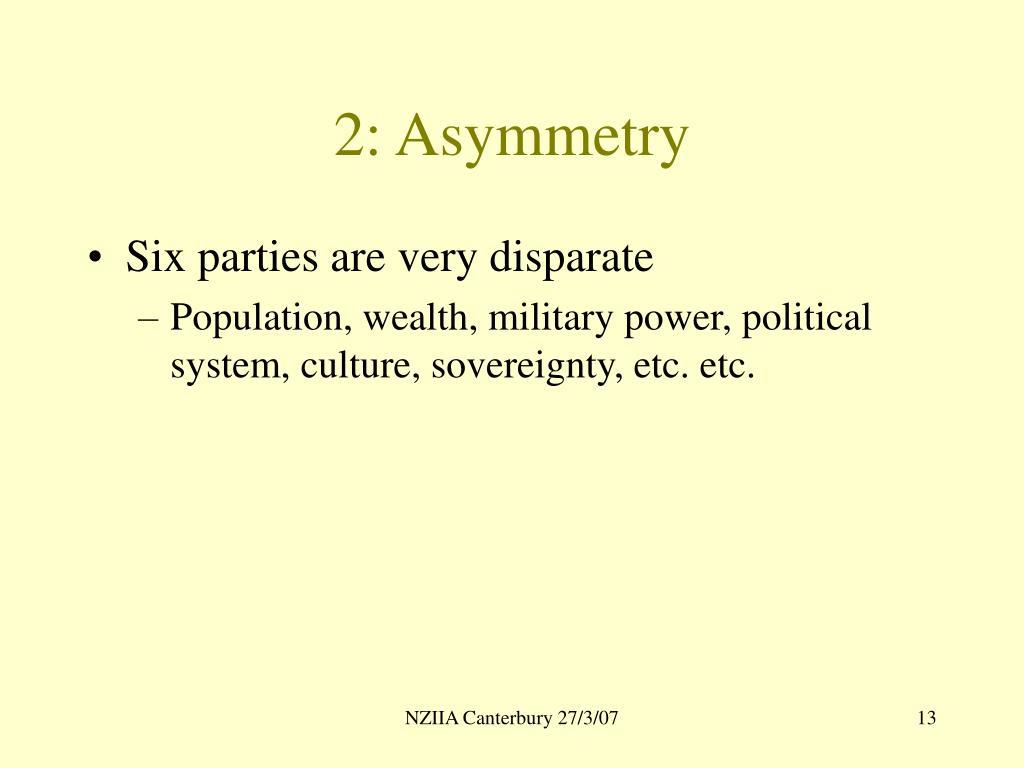 2: Asymmetry