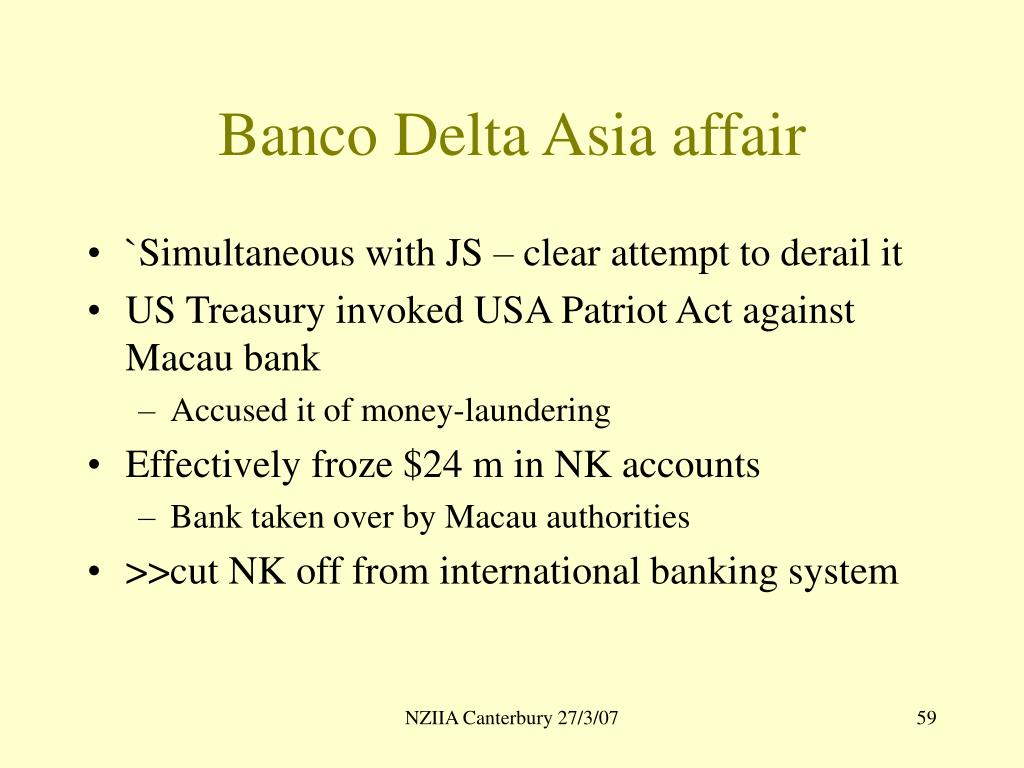 Banco Delta Asia affair