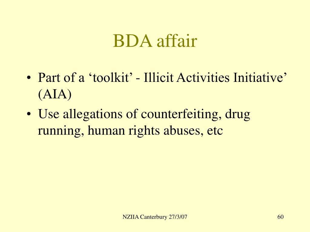 BDA affair