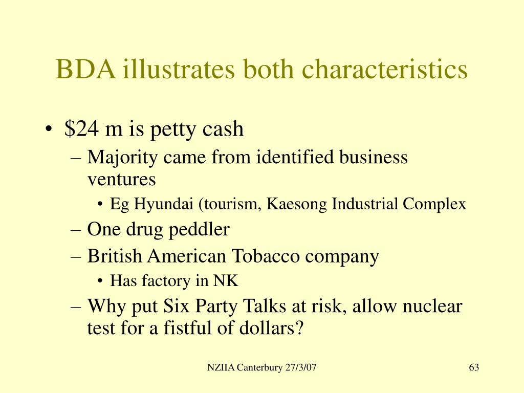 BDA illustrates both characteristics
