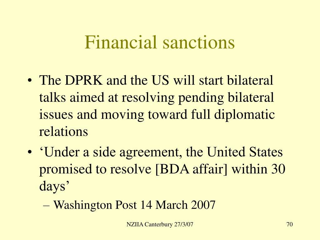 Financial sanctions