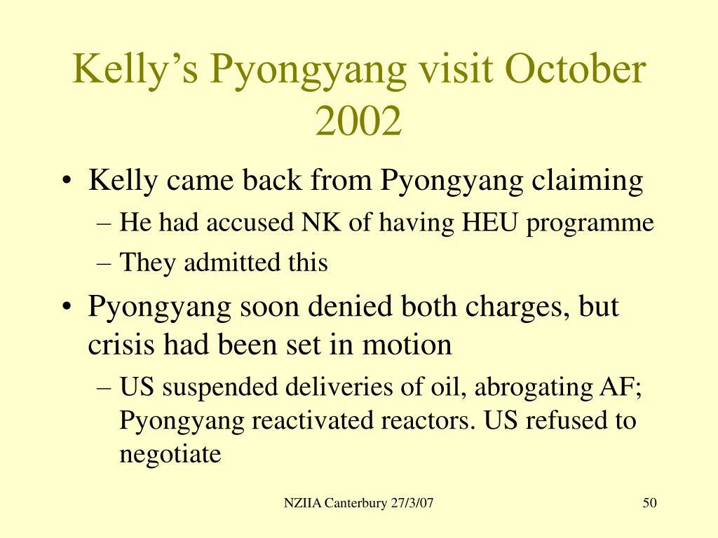 Kelly's Pyongyang visit October 2002