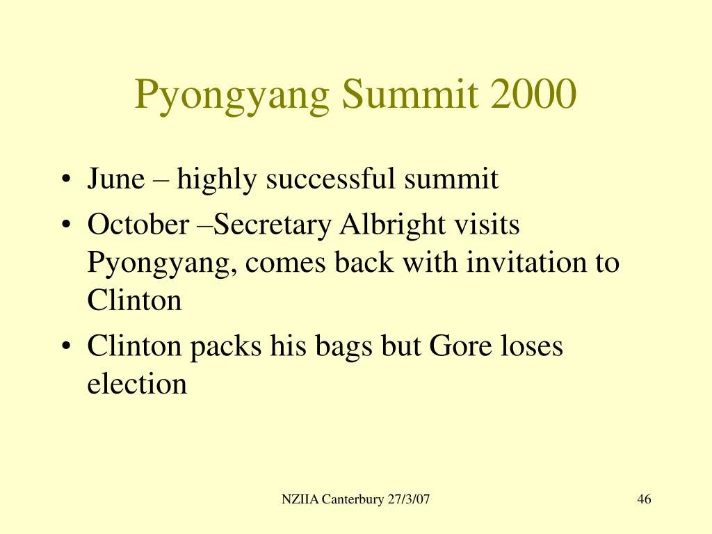 Pyongyang Summit 2000