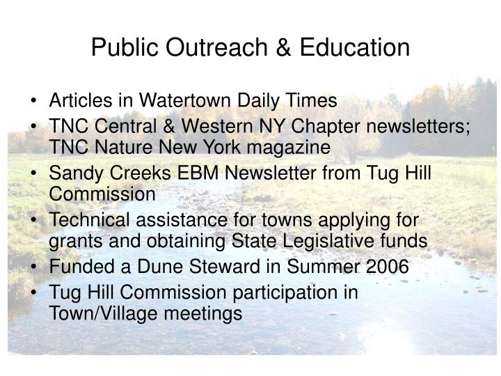 Public Outreach & Education