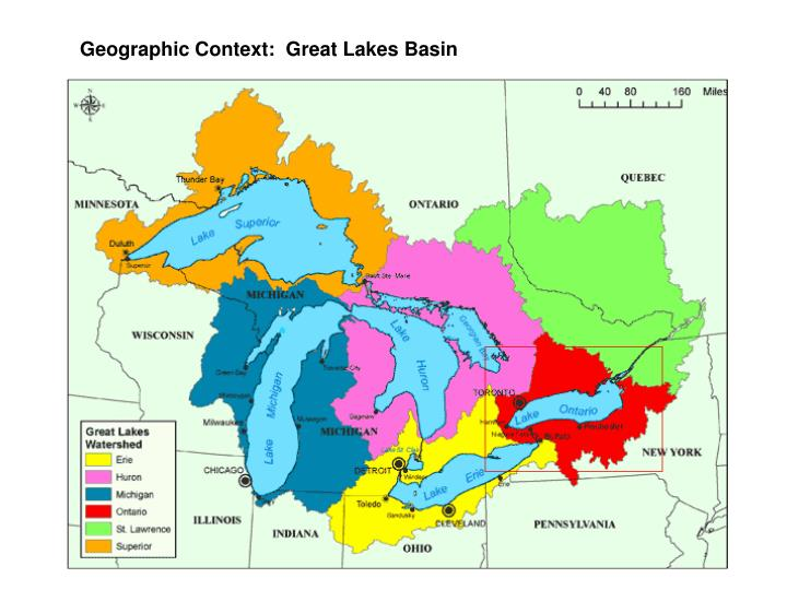 Geographic Context:  Great Lakes Basin