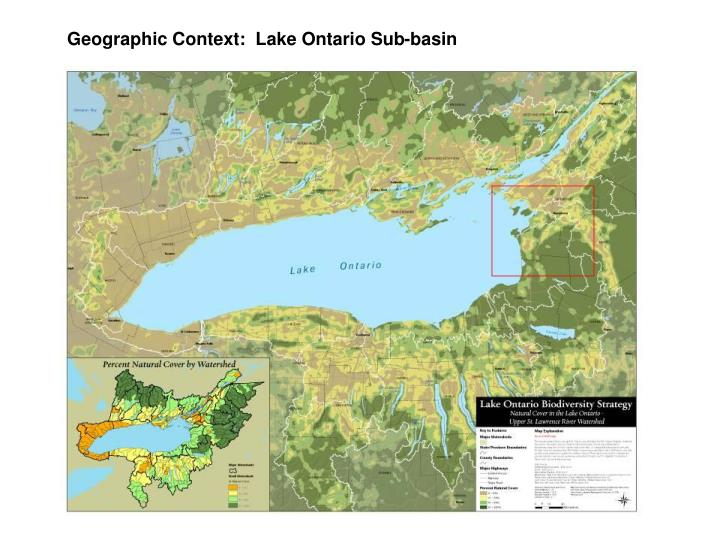 Geographic Context:  Lake Ontario Sub-basin