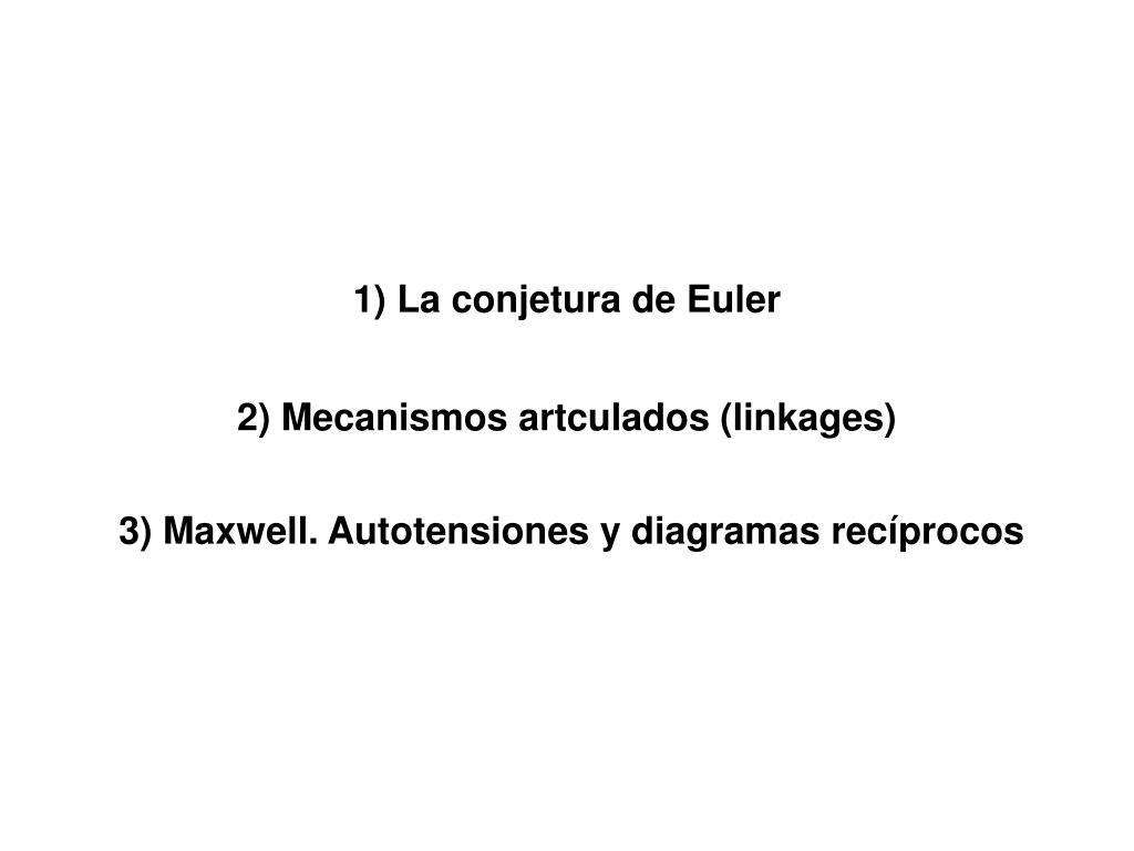1) La conjetura de Euler