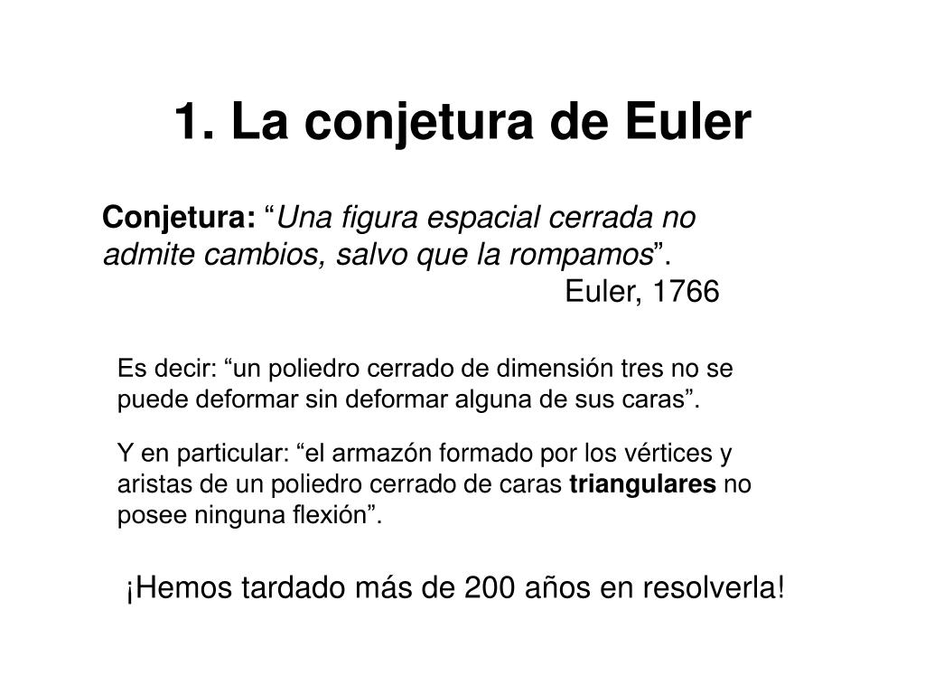 1. La conjetura de Euler