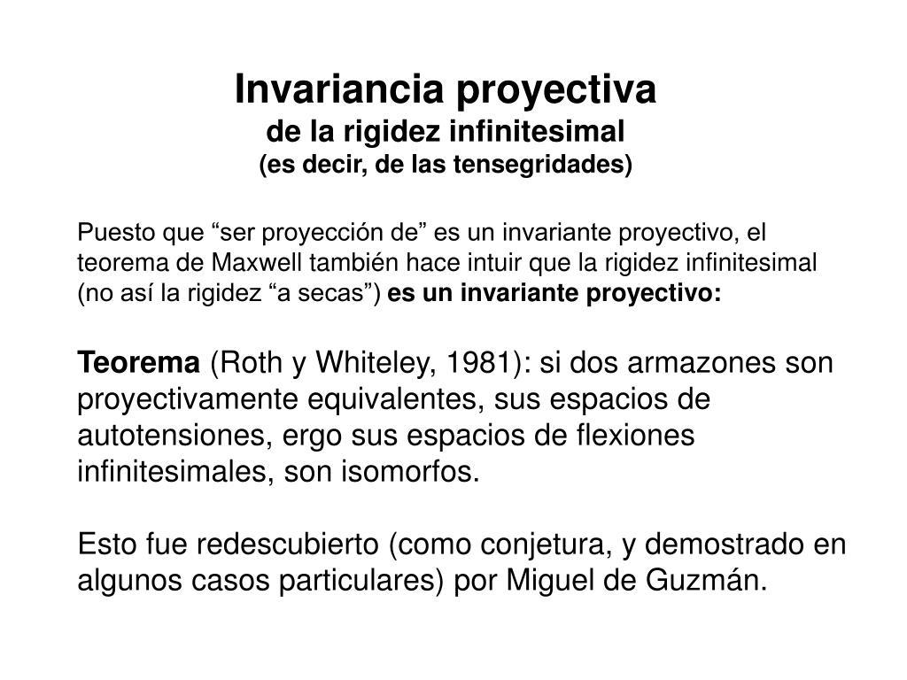 Invariancia proyectiva