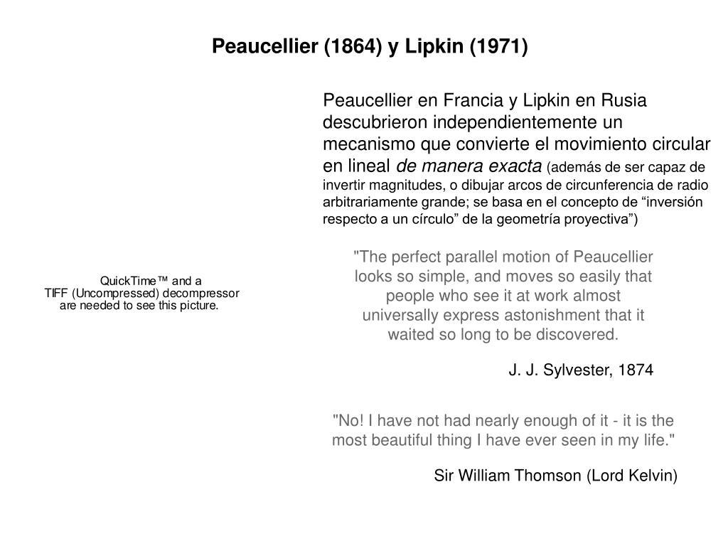 Peaucellier (1864) y Lipkin (1971)