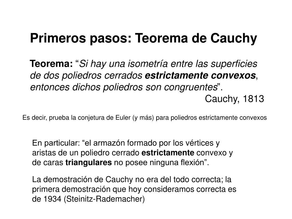 Primeros pasos: Teorema de Cauchy
