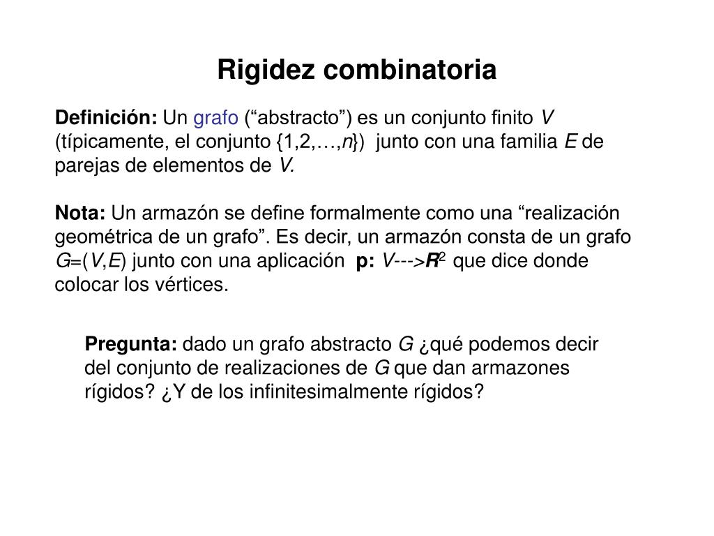 Rigidez combinatoria