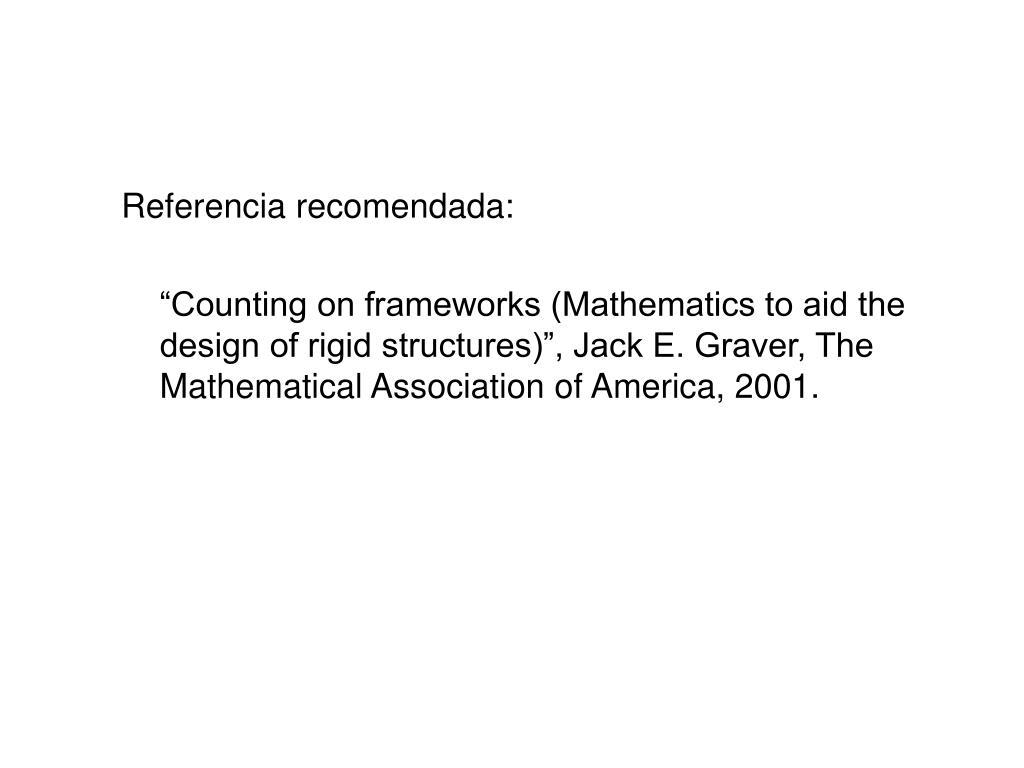 Referencia recomendada: