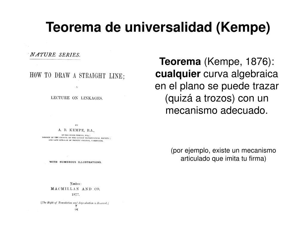 Teorema de universalidad (Kempe)