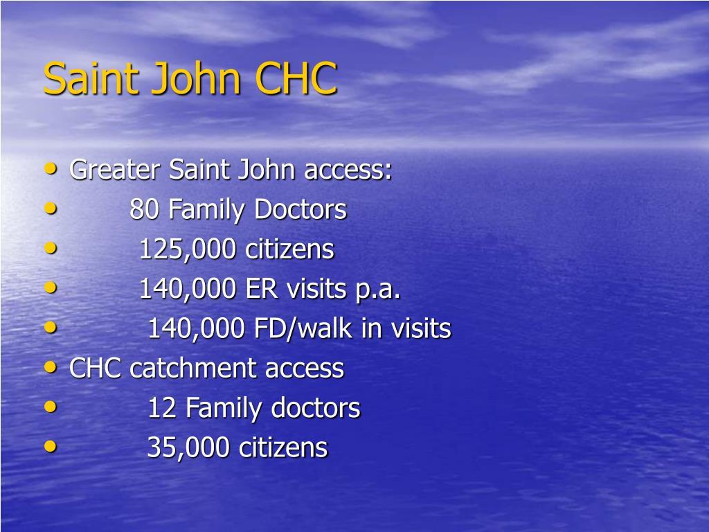 Saint John CHC