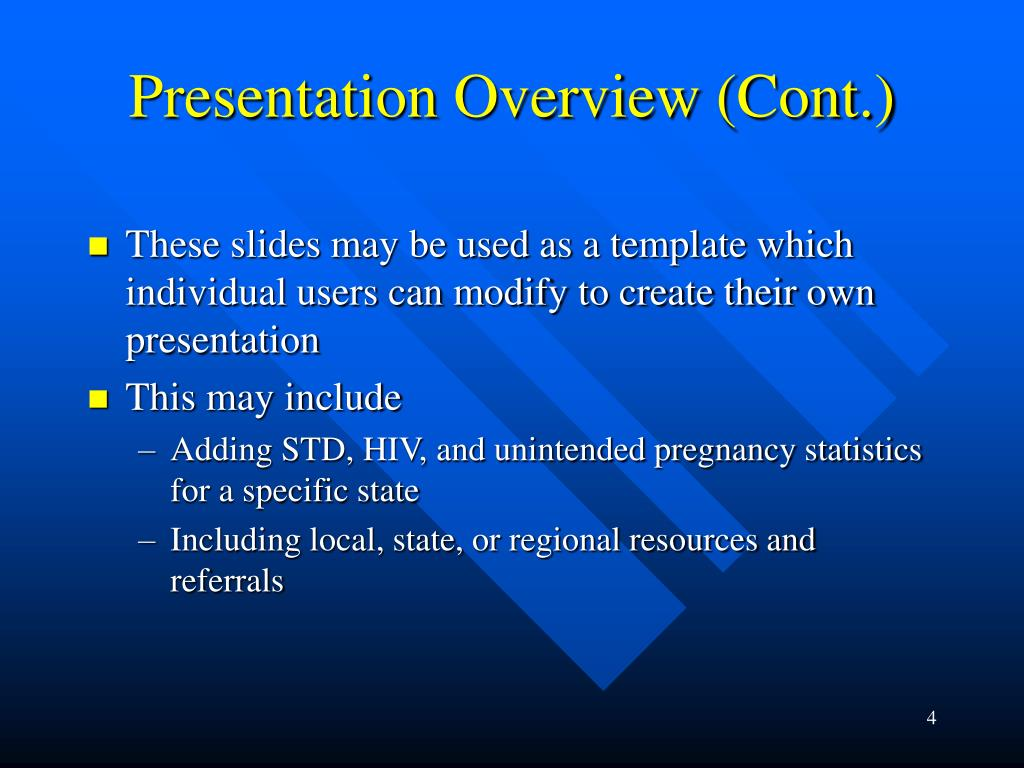 Presentation Overview (Cont.)