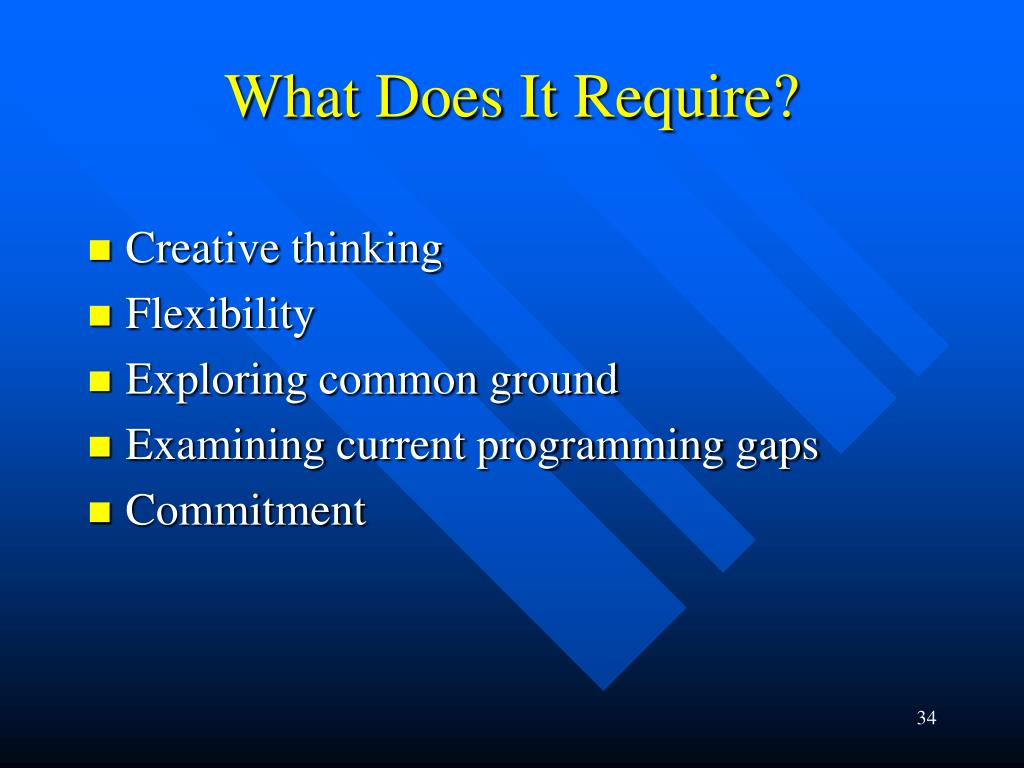 What Does It Require?