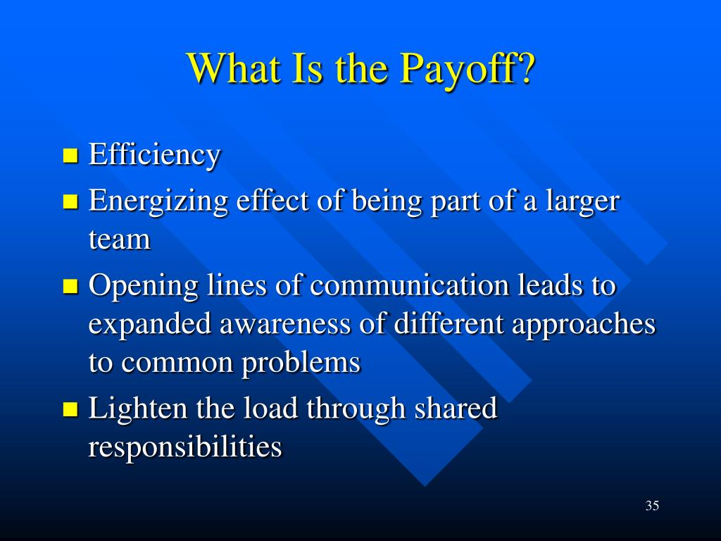 What Is the Payoff?