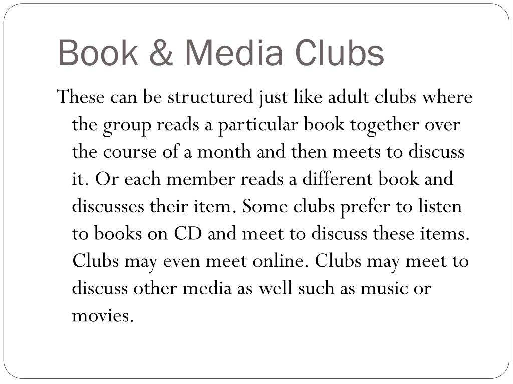 Book & Media Clubs