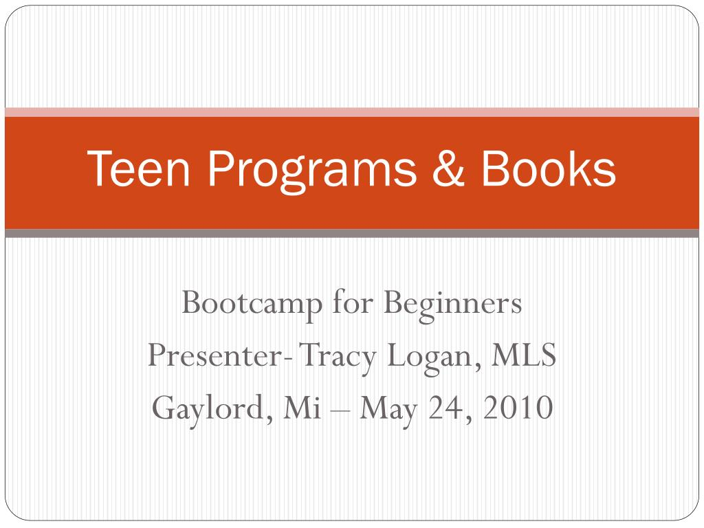 teen programs books
