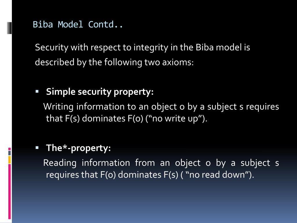 Biba Model Contd..