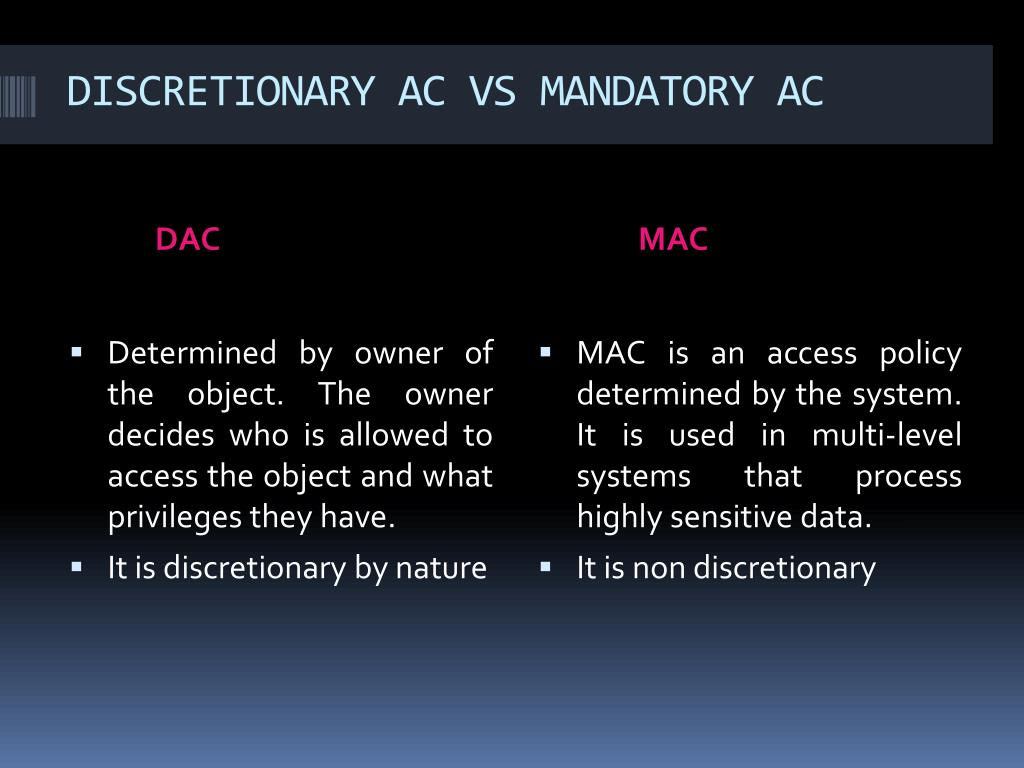 DISCRETIONARY AC VS MANDATORY AC