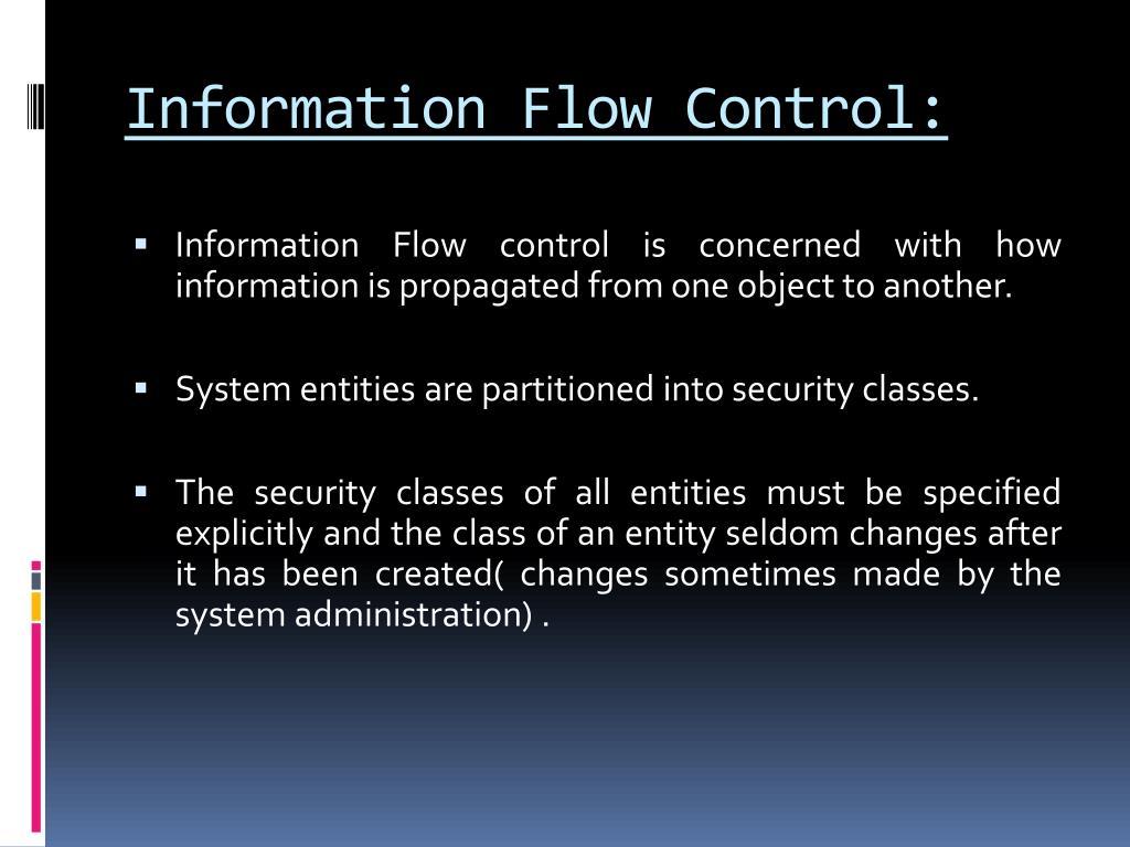 Information Flow Control: