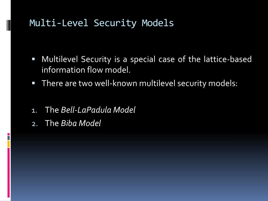 Multi-Level Security Models