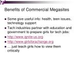 benefits of commercial megasites