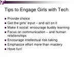 tips to engage girls with tech