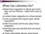 what can librarians do