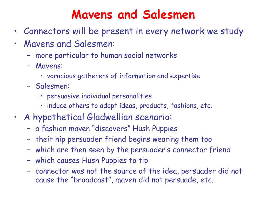 Mavens and Salesmen